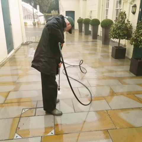Pressure and jet washing